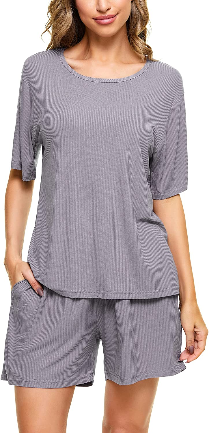 Annenmy Sleep T-Shirt top and Shorts Pajama Set for Women