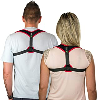 Posture Corrector for Men and Women, Adjustable Upper Back Brace Clavicle Support and Breathable Comfortable Straightener,...