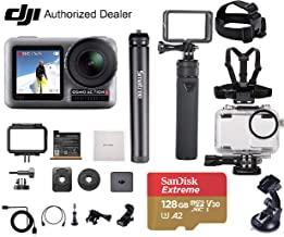 DJI OSMO Action – Waterproof Digital Action Camera, Professional Bundle, with Smatree Power Stick, Waterproof Case, 128GB Extreme SD Card, Tripod Stand, Harness Mount, Lens Cleaning Cloth and More