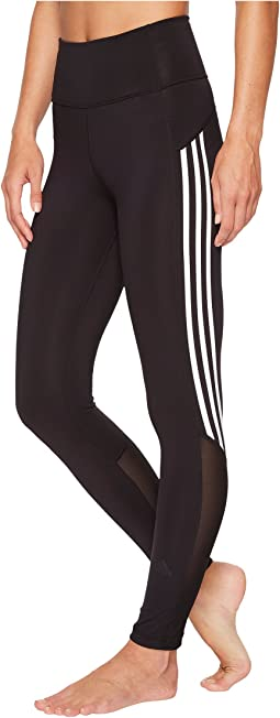 adidas - Believe This High-Rise Heathered 3-Stripes 7/8 Tights