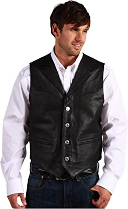 Nappa Notch Collar Vest