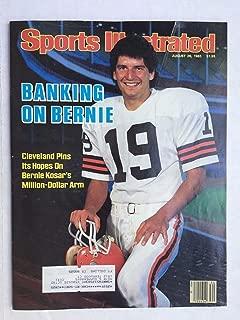 Sports Illustrated August 26 1985 Bernie Kosar Cleveland Browns