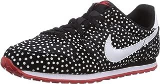 Nike Women's Wmns Genicco Print, BLACK/WHITE-UNIVERSITY RED, 6 US