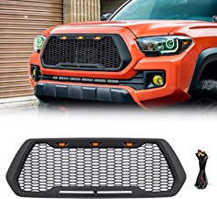 VZ4X4 Black Grill Mesh Grille, Compatible with Toyota Tacoma 2016-2020, Will Not Fit Truck with Front Sensor/TSS