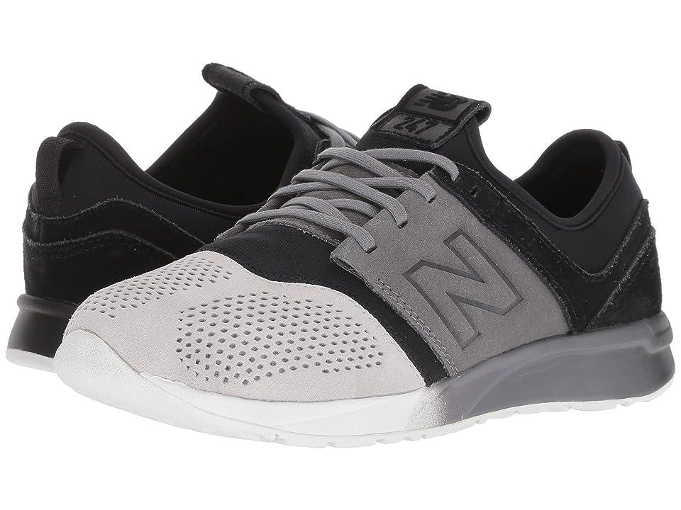 New Balance Kids KL247v1G (Big Kid) (Black/Castlerock) Boys Shoes