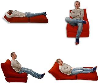 Bed Chaise pouf poire d'intérieur et d'extérieur Rouge Taille XL de Gaming XXXL Waterproof (résistant aux intempéries)