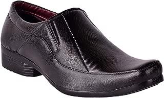 Goosebird Men's Black Synthetic Formal Shoes