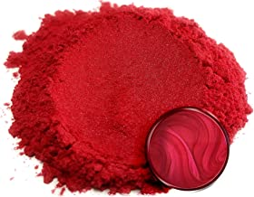 "Eye Candy Mica Powder Pigment ""Baku Red"" (50g) Multipurpose DIY Arts and Crafts Additive   Natural Bath Bombs, Resin, Paint, Epoxy, Soap, Nail Polish, Lip Balm"