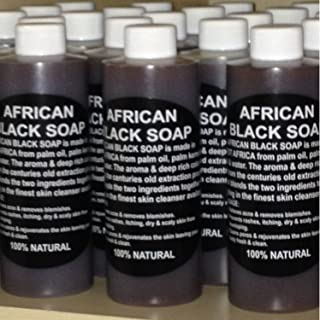 100% Pure Authentic Liquid African Black Soap From Ghana 16oz. by Plant Guru
