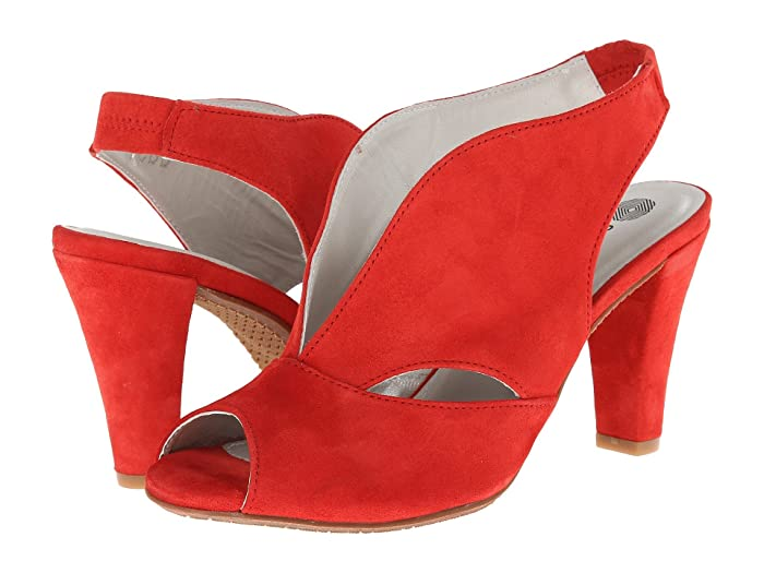 1940s Style Shoes, 40s Shoes Eric Michael Peru Red Womens  Shoes $149.95 AT vintagedancer.com