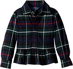 Polo Ralph Lauren Kids - Tartan Cotton Peplum Shirt (Toddler)