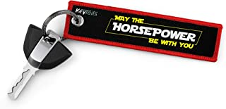 KEYTAILS Keychains, Premium Quality Key Tag for Motorcycle, Scooter, Dirt Bike [May The Horsepower Be with You]