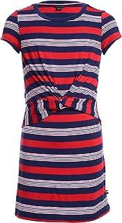 Girls' Short Sleeve Striped Dress