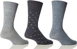 6 Pairs Mens Sockshop Classic Gentle Grip Socks Size 6-11 Uk, 39-45 Eur (RJ19)