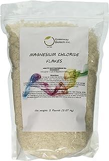 "Magnesium Chloride Flakes Clouro de Magnesio""Greenway Biotech Brand"" 5 Pounds"