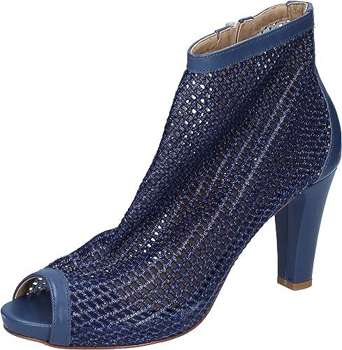 CALPIERRE Bottines Femme Cuir Bleu