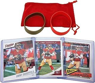 Jimmy Garoppolo Football Cards (3) Assorted Bundle - San Francisco 49ers Trading Card Gift Set