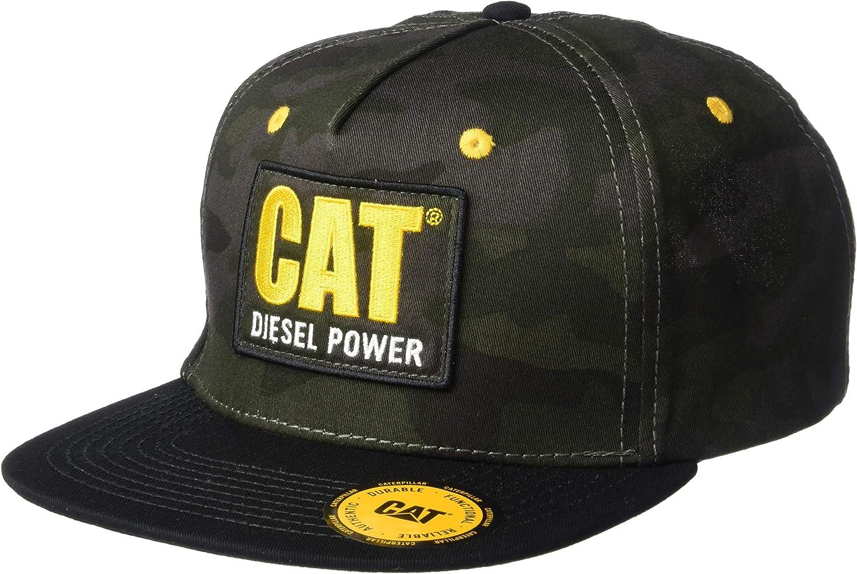 Caterpillar Men's Diesel Power Flat Bill Cap, Night camo, One