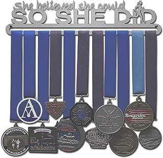 Allied Medal Hangers - She Believed She Could So She Did - Medal Hanger Holder Display Rack - Multiple Hang Up to 90 Medals!