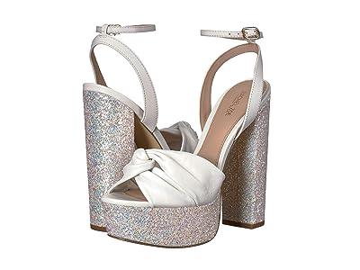 Rachel Zoe Claudette Glitter Platform Sandal (White Glitter/Nappa) Women