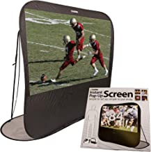 """SIMA 84"""" Pop Up Instant Portable Projection Screen, Black; Instant Set Up, Flexible for Space-Saving Storage; Projector Required"""