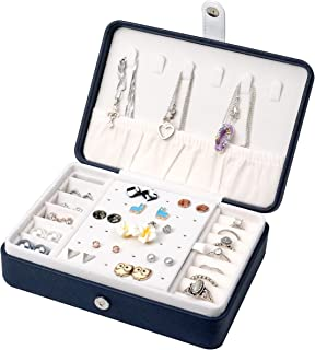 Jewellery Organiser | Jewellery Box | Jewellery Case | Small and Portable for Travel | Storage for Necklace, Earrings, Rin...