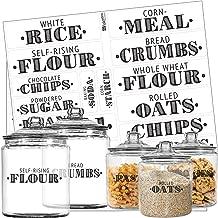 Talented Kitchen Farmhouse Pantry Labels – 36 Main Ingredients – Food Pantry Label Sticker. Black, Water Resistant, Food Jar Labels. Jar Decals f/Pantry Organization Storage (Set of 36 - Main Pantry)