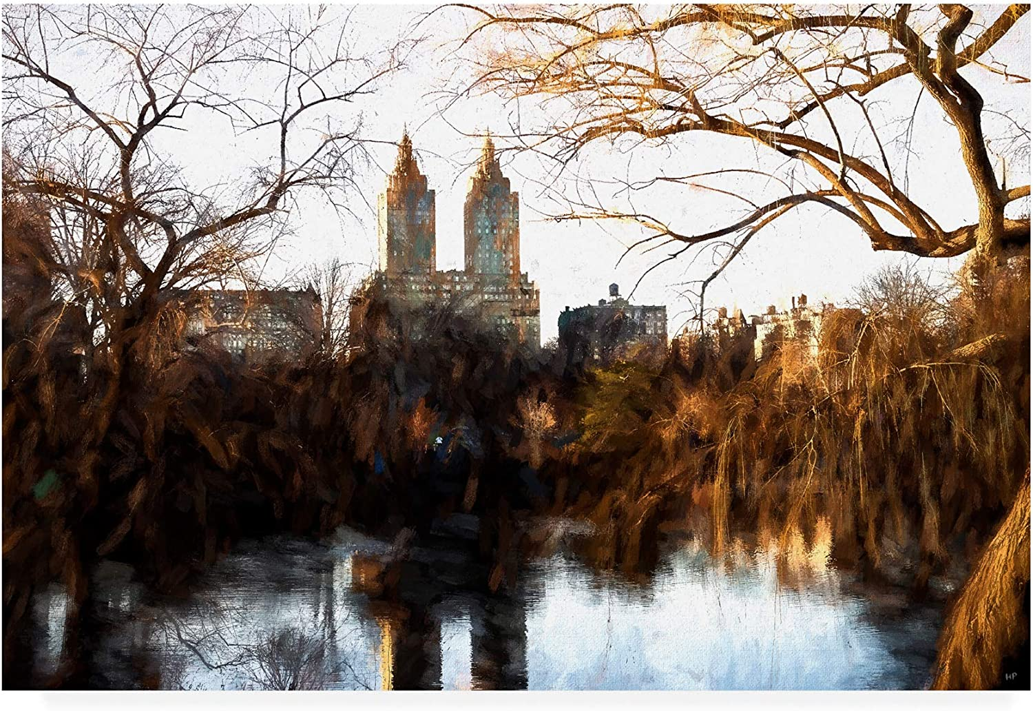 Trademark Fine Art PH01465C1219GG Fall colors on Central Park by Philippe Hugonnard, 12x19