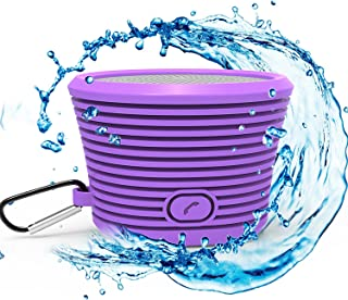 Proxelle Surge Thrill Waterproof Bluetooth Speaker - Portable and Rugged With Built-in Microphone - Purple