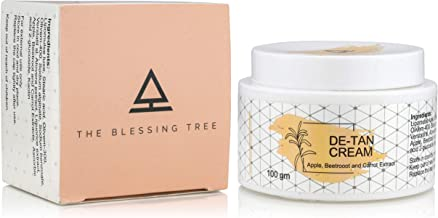 The Blessing Tree De Tan Cream with Apple Beetroot and Carrot Extracts for Skin Brightening and Lightening. 100 gm