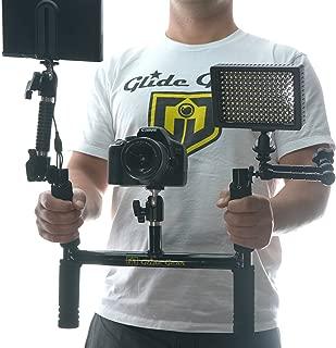 Glide Gear BV100 Horn Video Camera Handle Grip /Field Monitor Yoke Holder w/ Shoulder Strap Ball Head