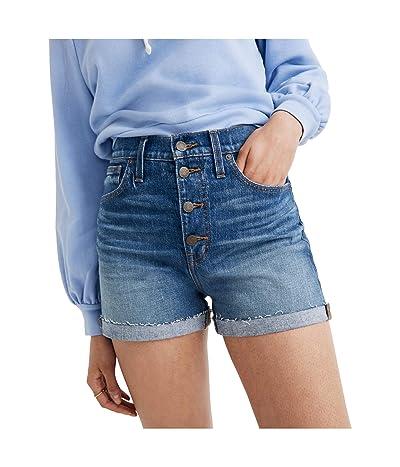 Madewell High-Rise Denim Shorts in Burke Wash: Button-Front Edition (Burke Wash) Women