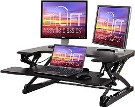 "Seville Classics airLIFT 35"" Height Adjustable Stand Up Laptop Desk Converter/Riser - Keyboard Tray, Quick Lift Ergonomic ..."