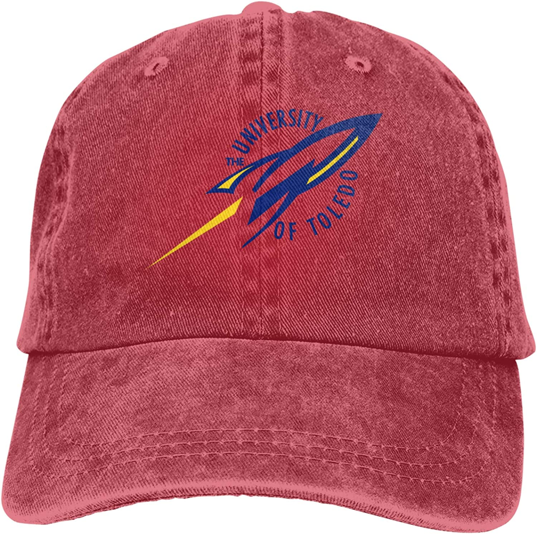 RUIHGK Toledo University Football Denim Cap Adjustable Casquettes Baseball Cowboy Hat