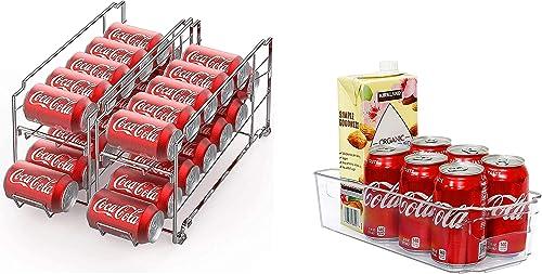 wholesale SimpleHouseware Stackable online sale outlet online sale Beverage Can Dispenser + Kitchen Organizer Bin outlet sale