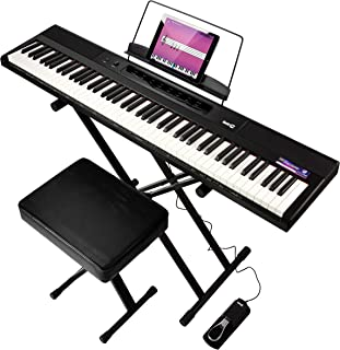 RockJam 88-Key Beginner Digital Piano with Full-Size Semi-We