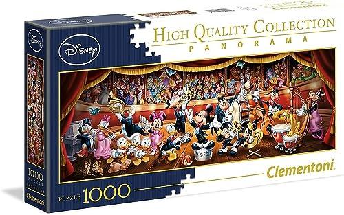Clementoni - 39445 - Disney Panorama Collection - Orchestre - 1000 Pièces