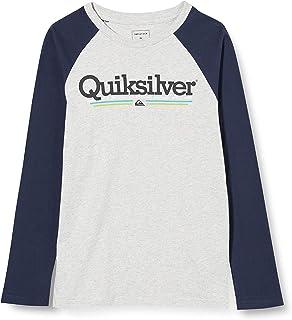 Quiksilver Tropical Lines - Camiseta de Manga Larga para Niños 8-16 Camiseta De Manga Larga Niños