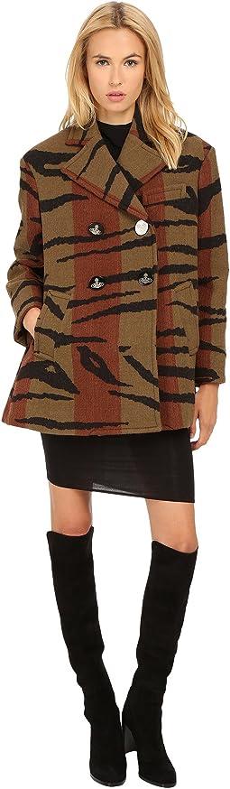 Tiger Stripe Blanket Princess Car Coat