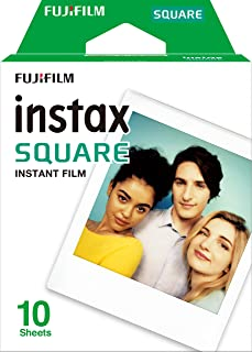 Fujifilm Instax Square Instant Film Sheets 10 Pack, White (87300)