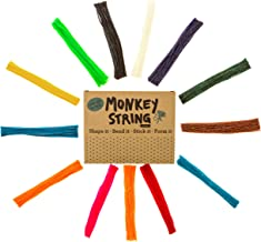 Impresa Products 500 Piece Pack of Monkey String (Jumbo Pack) - Wiki / Wikki Bendable, Sticky Wax Yarn Stix / Sticks in Bulk - Perfect Toys for Home and Travel