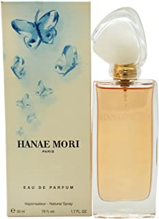Hanae Mori Blue Butterfly Eau de Parfum Spray for Women, 1.7 Ounce (Packaging may Vary)