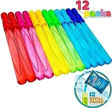 Joyin Toy 12 Pack 14'' Big Bubble Wand Assortment (1 Dozen) with Bubble Refill Solution - Super Value Pack of Summer Toy Party Favor (12 Bubble + 12 Refill Pack = 24pack)