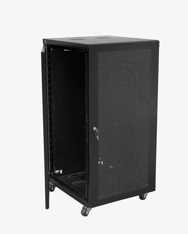 RAISING ELECTRONICS 18U Wall Mount Network Server Cabinet Rack Enclosure Glass Door Lock(18U)