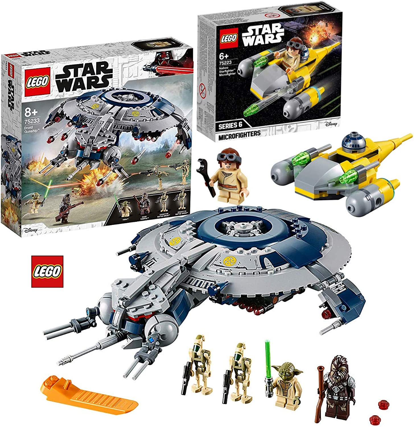 LEGO Star Wars 75233 Droid Gunship + LEGOStar Wars 75223 Naboo Starfighter Microfighter