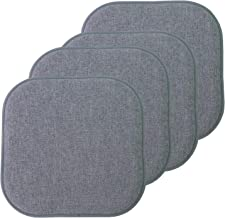 """Sweet Home Collection Chair Cushion Memory Foam Pads Honeycomb Pattern Slip Non Skid Rubber Back Rounded Square 16"""" x 16"""" ..."""
