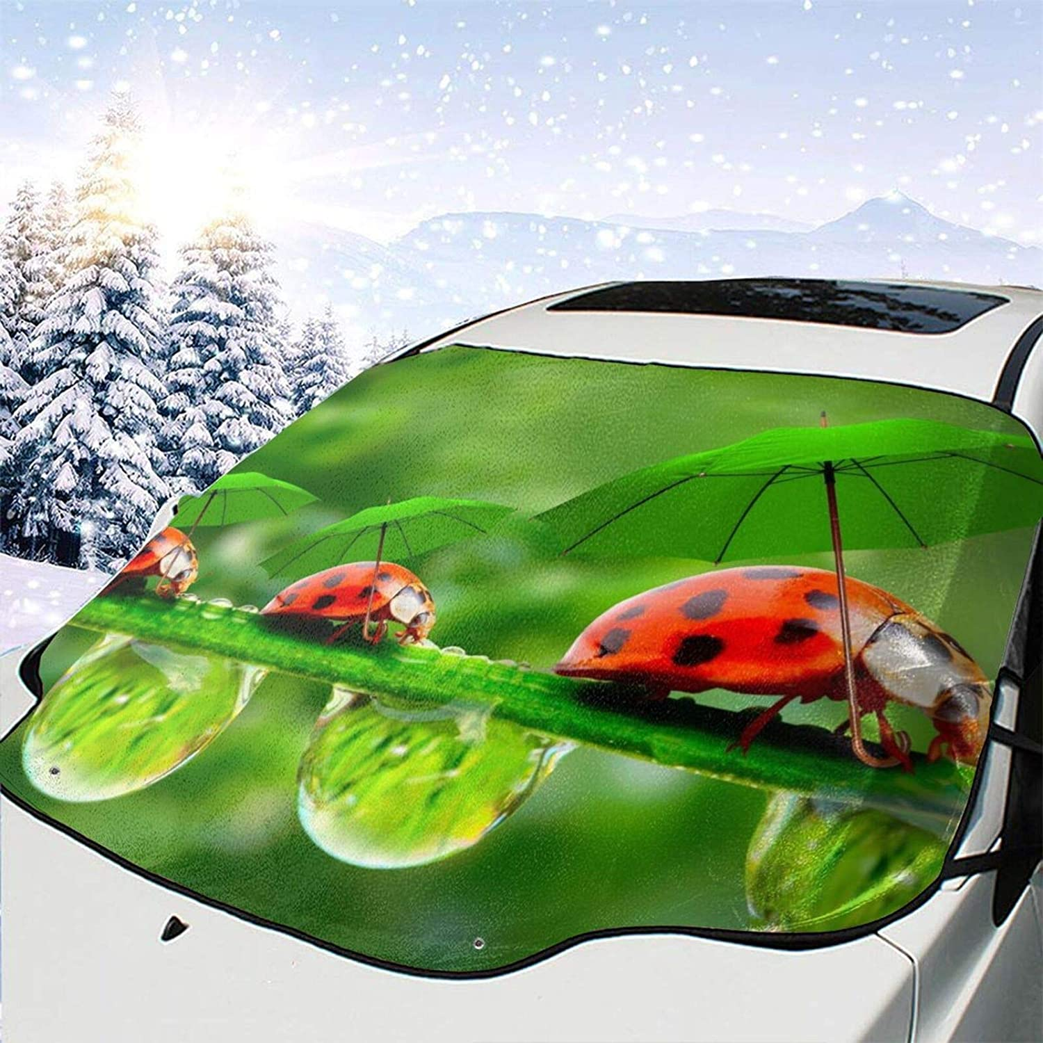 Car 5 popular Front Window Windshield Snow Green-Umbrella Cover H Lady-Bug High order