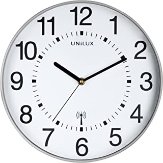 A*m*s*44 Horloge Murale Radio Horloge de cuisine hêtre massif Horloge radiopilotée Wohnzimmeruhr H//B 27 cm 641