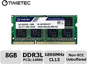 Timetec Hynix IC 8GB for Synology NAS DiskStation DS218+ DS918+ DDR3/ DDR3L 1866Mhz PC3L-14900 1.35V Non-ECC Unbuffered 204 Pin SODIMM Memory RAM (8GB)