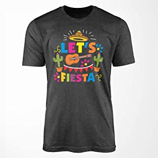 Cinco De Mayo Shirt - Let's Fiesta Mexican T-Shirt - Funny Gift Tee for Cactus and Guitar Lover